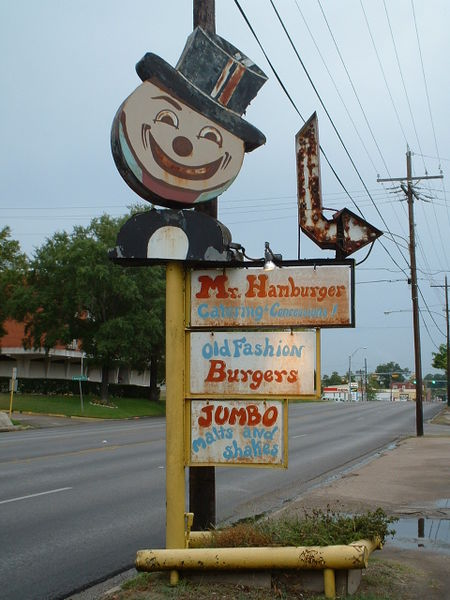Mr. Hamburger Sign