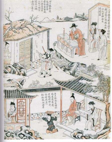 Ding Lianxian Calendar Leaf: Illustration of the fourth to sixth month