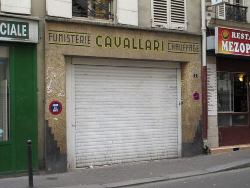 Storefront Fumisterie Cavallari, Faubourg St. Denis