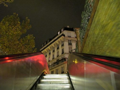Emerging from Metro Place de Clichy