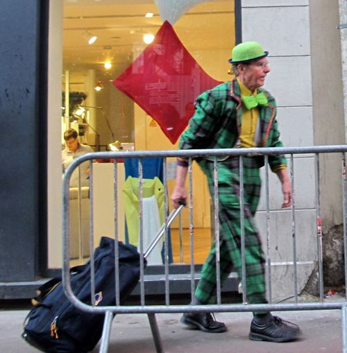 Leprechaun Man Entering Olympia Theatre