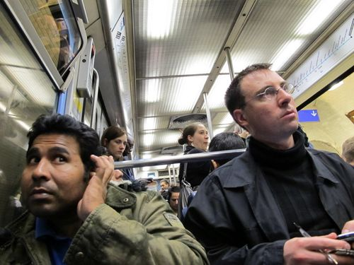 Two Men on Subway