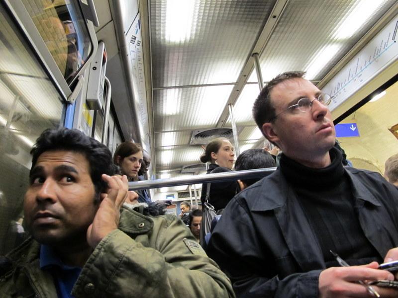Two Men on Subway
