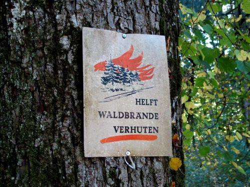 Waldbrande Schild