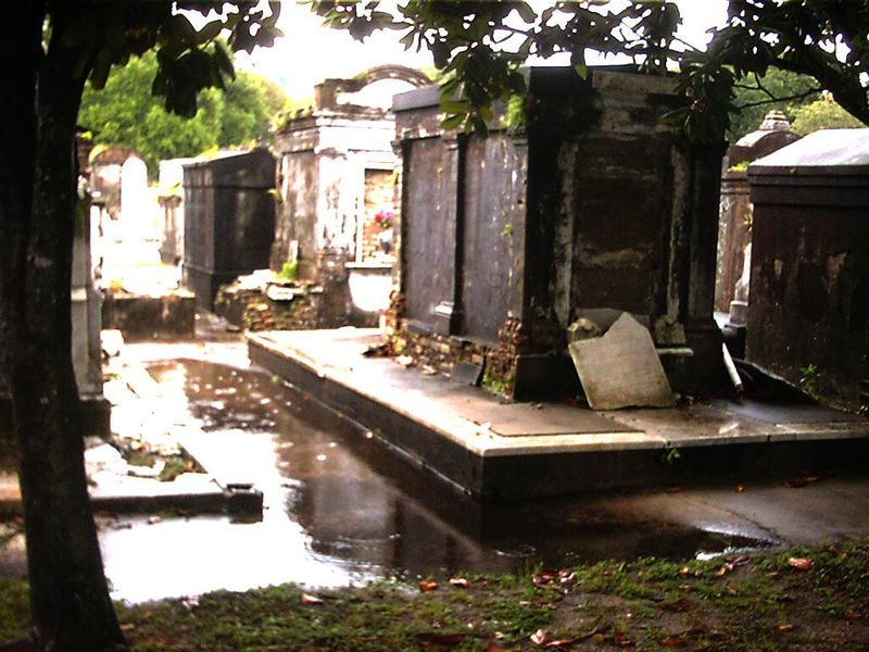 [dddd] Decaying Tombs Lafayette Cemetery New Orleans Louisiana