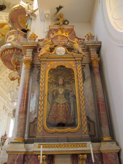 St. Verena Reliquary Altar St. Domitia (Feichtmayr 1779-86)