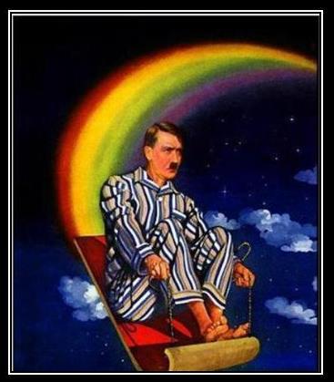 Hitler Riding a Magic Carpet