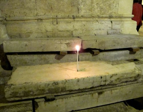 Taper on Marble Slab Holy Sepulchre