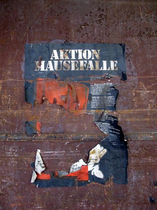 D13 Action Mousetrap Poster in Disused Train Station