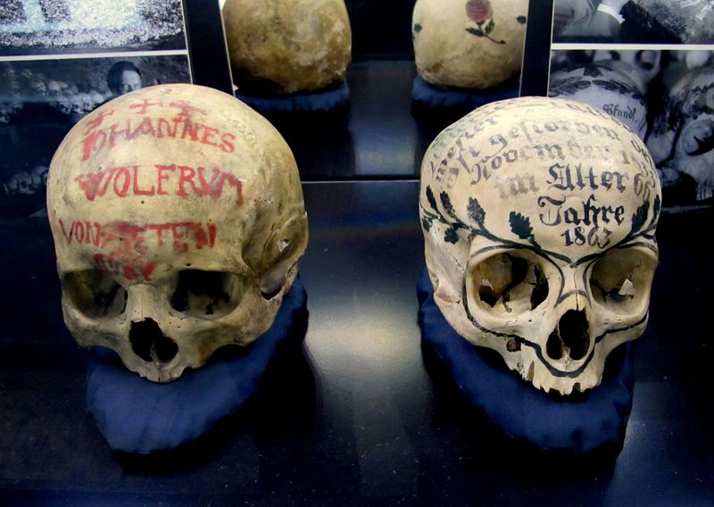 Skulls Inscribed with Owners' Names from S. Germany MfSK Kassel