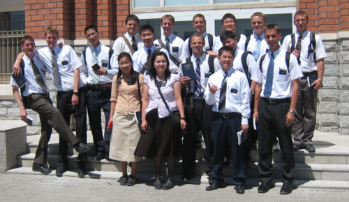 Mormon Missionaries in Mongolia