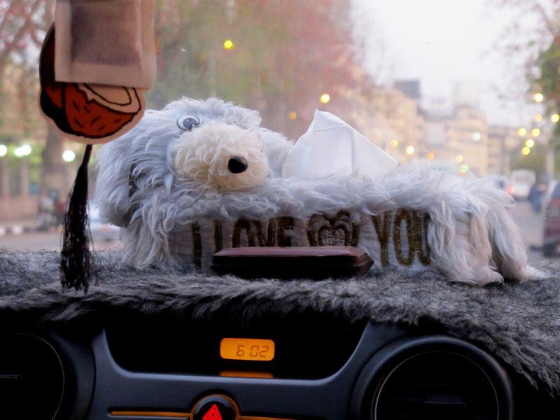 Aswan - I Love You Dashboard Tissue Box