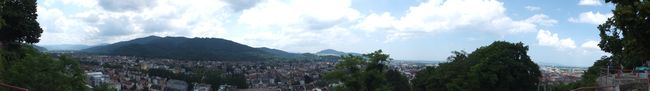 Panorama of Freiburg from the Burghaldering