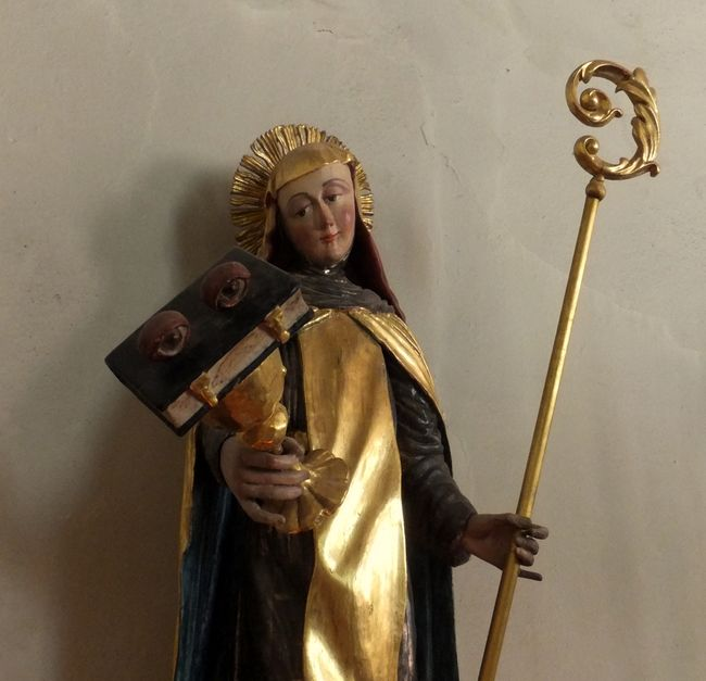 Sculpture of St. Odila in St. Ottilien Church