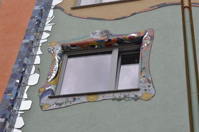 Mosaic Facade Krahestr. Window . Window