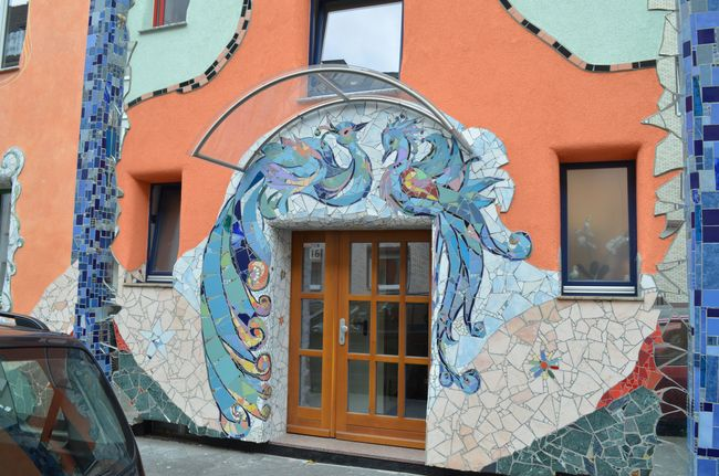 Mosaic Facade Krahestrasse (Josipa Horvat) Peacock Dorrway