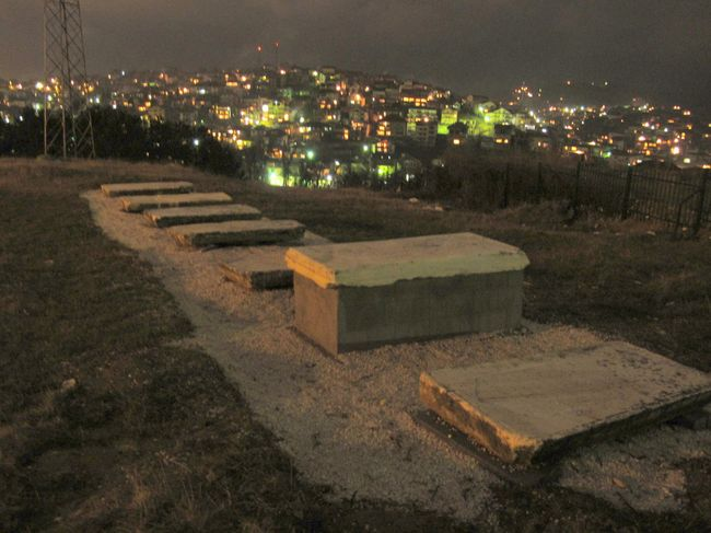 079 - Prishtina View of Jewish Cemetery with Velania in Background