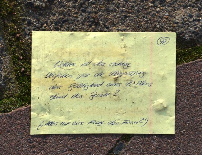 Sidewalk Note