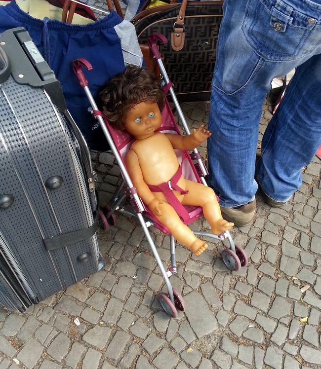 Doll in Stroller Boxhagener Flea Market.17
