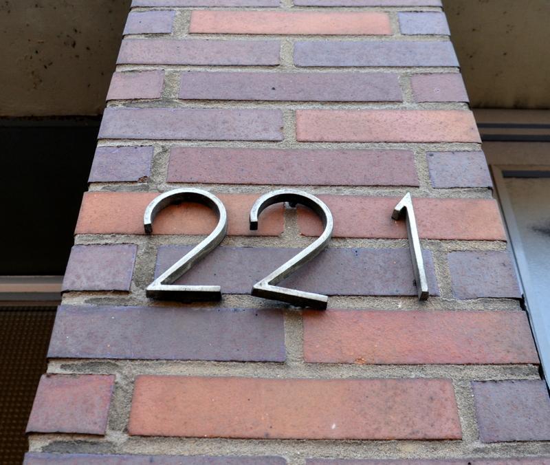 Number Plate 221 Kölner Landstrasse