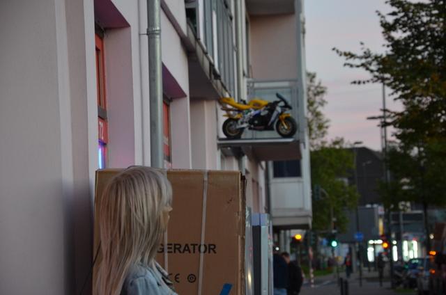 Westen Mannequin and Motorcycle