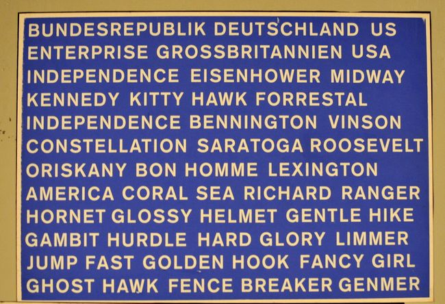Regierungsbunker List of Ship and Code Names
