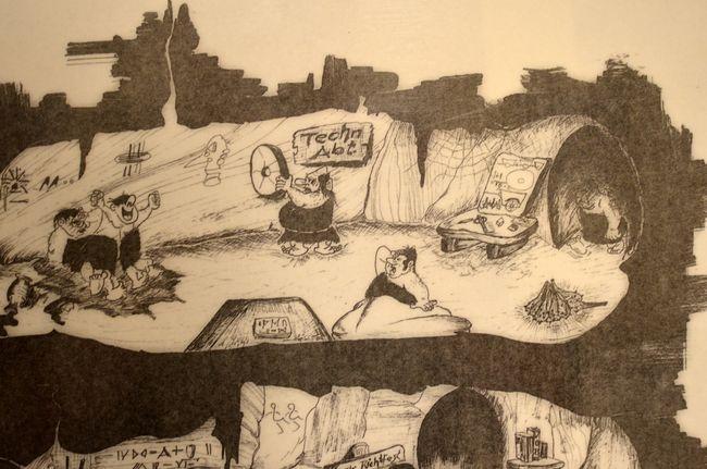 Regierungsbunker Postnuclear Satirical Poster Detail