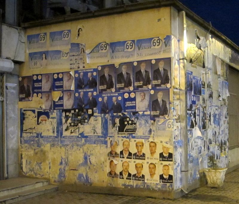 028 - Prizren - Election Posters on Wall
