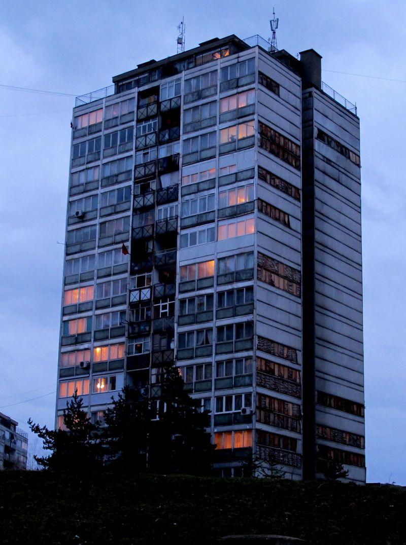 059 - Prishtina - Ulpiana - Housing Block at Dusk