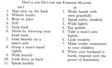 Dos and donts for women