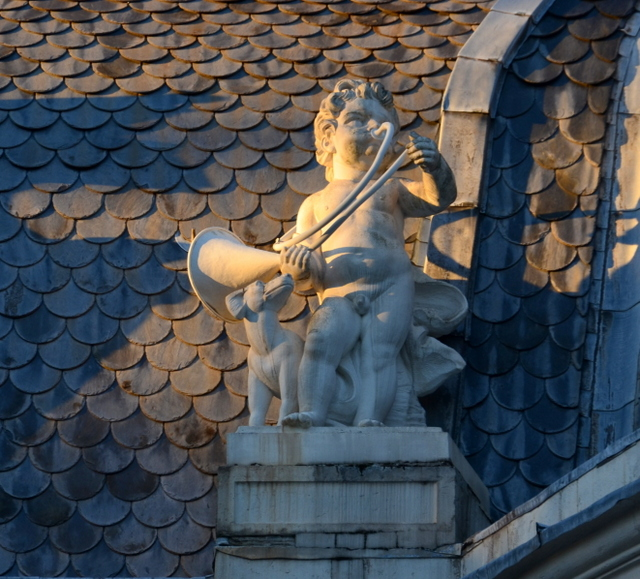 Schloss Benrath Putto on Roof