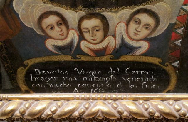 Detail of Cherubs and Inscription
